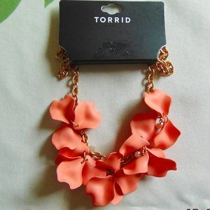 Torrid Peach Petal Necklace
